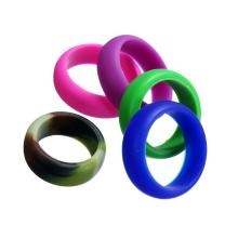 Custom Mens Womens Wedding Ring Gummi Silikon Band