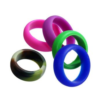 Tuỳ chỉnh Mens Womens Wedding Ring Cao su Silicone Band