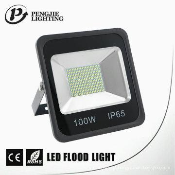 Luz de inundação do diodo emissor de luz do preto da dissipação de calor IP65 do diodo emissor de luz de 100W SMD boa