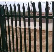 Metal palisade garden fence panel