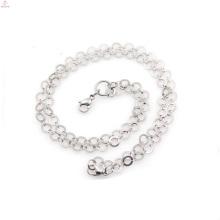 Cadeia de colar lindo metal em massa, correntes de bola de metal prata brilhante para correntes de pescoço