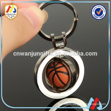 Sports metal crafts series Basketball Keychain