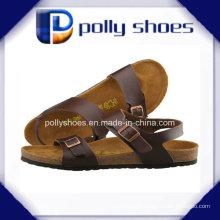 Braun Leder Rutschen Komfort Sandalen Größe 42 Herren Sandale