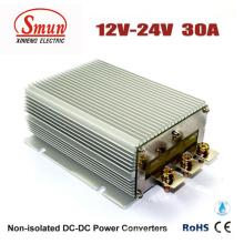 Fuente de alimentación del coche del convertidor 12V-24VDC 30A DC-DC con prenda impermeable IP68