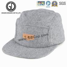 2016 Cool Design Grau Wolle Hohe Qualität Snapback Camper Cap