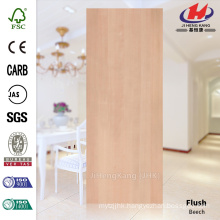 JHK-F01 Elegant Straight Line Smooth Natural Veneer Beech Wood HDF Doorskin