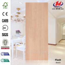 JHK-F01 Элегантная прямая линия Гладкая натуральная фанера Буковая древесина HDF Doorskin