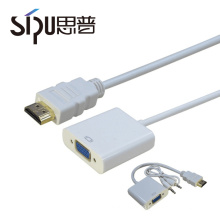 SIPU high quality cable converter best price wholesale 1.4v hdmi to vga adapter