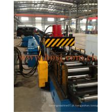 Bandeja de cabo flangeado horizontal T Bandeja de acabamento galvanizado formando máquina de produção Filipinas