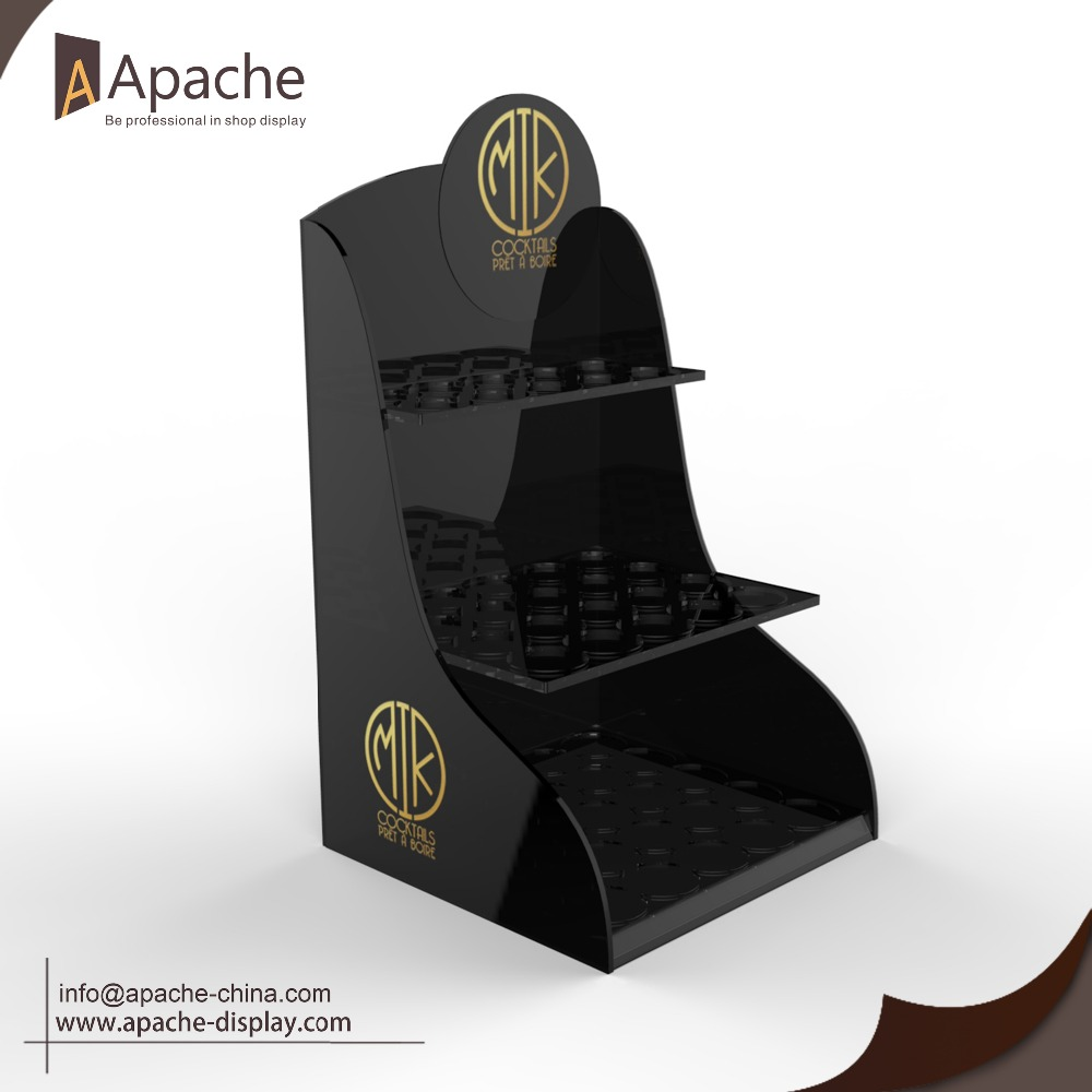 Black acrylic drink shot 55bottle organizer display
