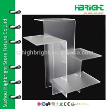 Desktop acrylic shoe display stand