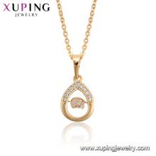 44930 Xuping venta caliente bañado en oro moda popular bailando collar de piedra