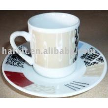 Tasse à thé en céramique en céramique 120CC et soucoupe