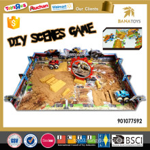 DIY puzzle game sand toy with four wheel drive toy car