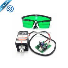 Accesorios del grabador del laser del poder más elevado de 450nm 12V DIY DIY cabeza del laser 2.5W + eyewear