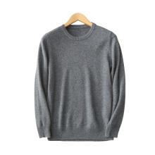 Männer pullover pullover 100% kaschmir O hals 12GG dicke warme strickpullover