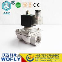 Acier inox 12VDC 1.6Mpa DN25 électrovanne à gaz liquide