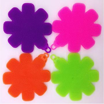 Flower Shape Silicone Scrubber for Face Bath