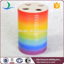 YSb40001-01-th Rainbow bathroom accessory toothbrush holder