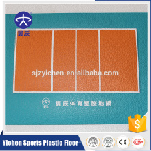 Yichen weichen Volleyballplatz PVC-Bodenbelag Matte Vinyl Sportbodenbelag