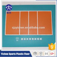 Yichen doux terrain de volley-ball pvc revêtements de sol en vinyle tapis de sport