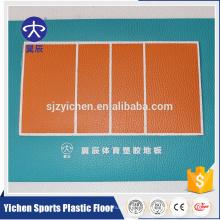 Yichen voleibol macio quadra de piso de pvc piso de vinil piso de esportes