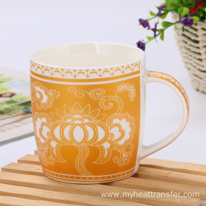 High-grade gold pattern ceramic mug