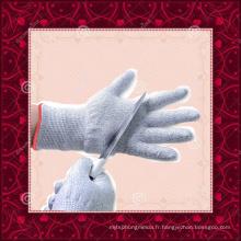 Gants de cuisine en tricot tricotés à la chaîne HPPE de qualité alimentaire résistant aux coupures