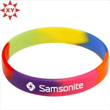 Taille colorée de bracelet de silicium pour des adultes