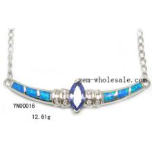 La manera de la joyería ópalo de la plata (YN00016)