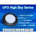 Luz UFO LED Highbay 150LM / W regulável de 1-10v