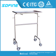 SF-HJ2070 hospital ues stainless steel medical trolley cart