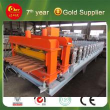 Línea de producción de acero precios de color rollo formando equipo
