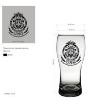 Whisky Copa Copa de vidrio para la cerveza o beber cerveza Copa Kb-Hn03589