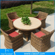 Factory Customized Luxury Wicker Garden / Patio Dining Set Modern