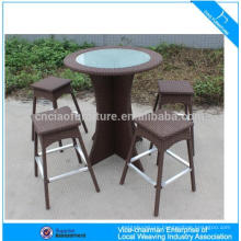 Western modern outdoor wicker bar furniture