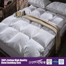 Anti- Allergy bed set mattress topper cotton duck feather duvet and down feather duvet