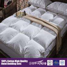 Anti-Allergy cama set colchão topper algodão pato pena edredão e edredão pena