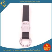 Corrente chave de couro genuína personalizada de alta qualidade do projeto especial com logotipo do laser