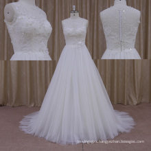 Custom Size Cap Sleeve Vintage Lace Wedding Dress