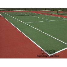 Green Acrylic sports flooring