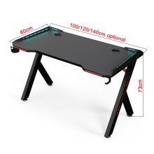 Rgb Gaming Table With Carbon Fiber