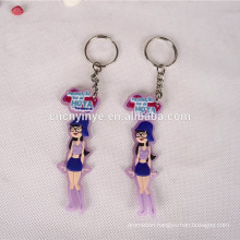 Custom wholesale high quality pvc film keychain