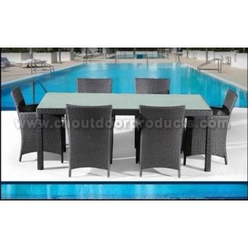 Mobília de sala de jantar ao ar livre do Rattan