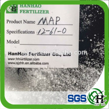 (MAP12-61-0) mono ammonium phosphate fertilizer with best FOB price from China factory