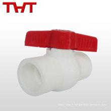 Robinet à boisseau sphérique standard à une voie en plastique