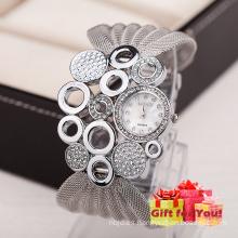 Especial de diseño de moda de las mujeres Rhinestone Pulseras de abrigo Wrist Watch Cestbella regalos especiales Watch
