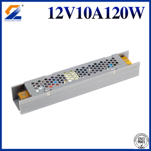Slim LED Driver 12V 10A 120W För LED Strip