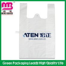 100% biodegradable vest handle carrier bag plastic t shirt bags