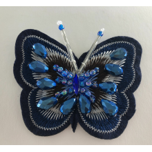 Butterfly Embroidery Handmade Beaded Applique Patch